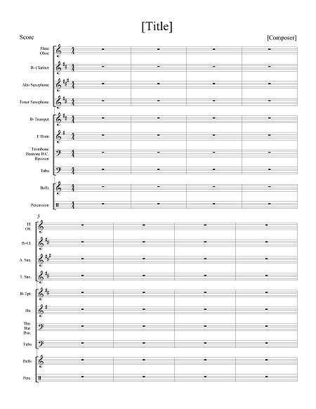 how to create space between staves in finale orchestra score