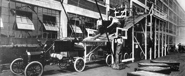 Ford Model A Assembly Line 1913
