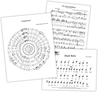 sheet music printed by finale