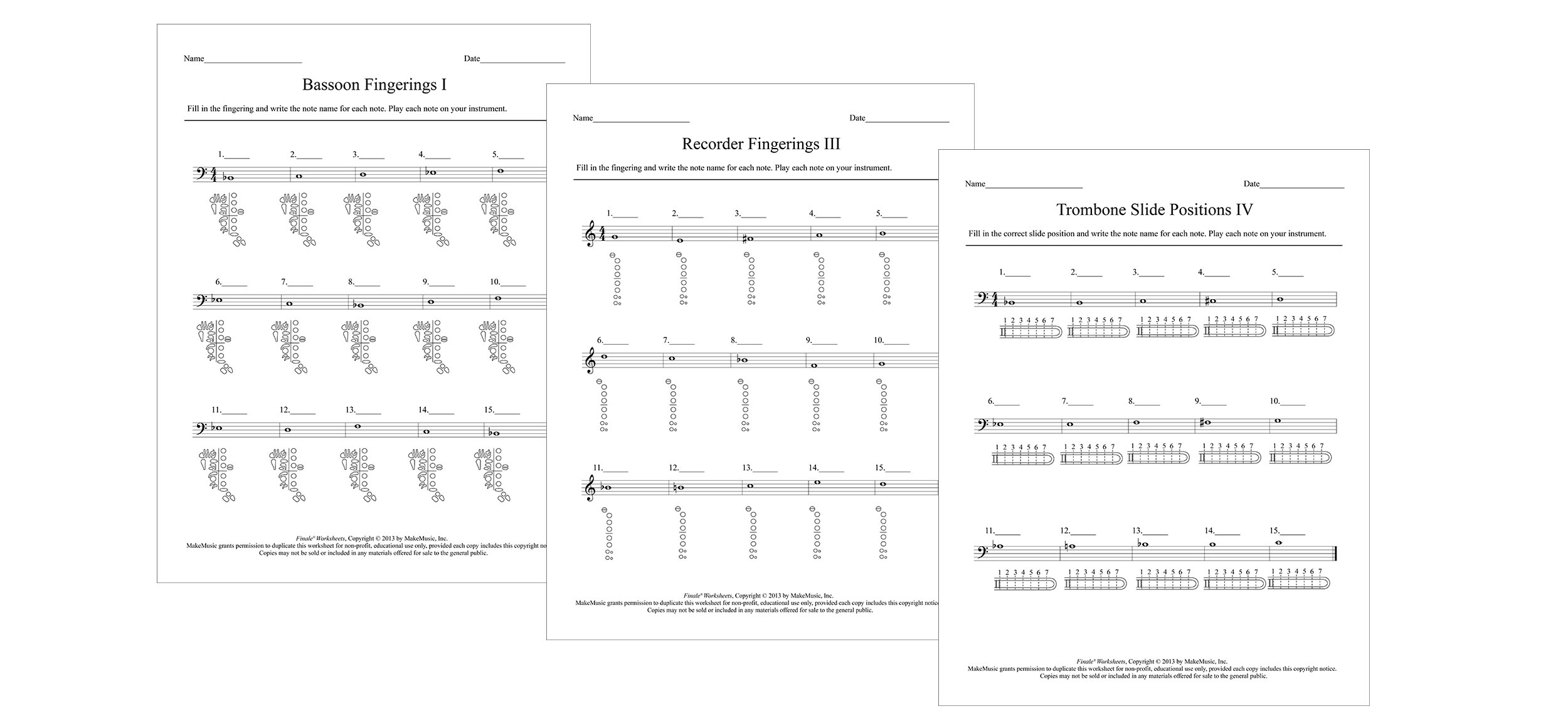 worksheet Note Name Worksheets fingering worksheets