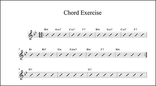 Create A Chord Chart With Finale Finale