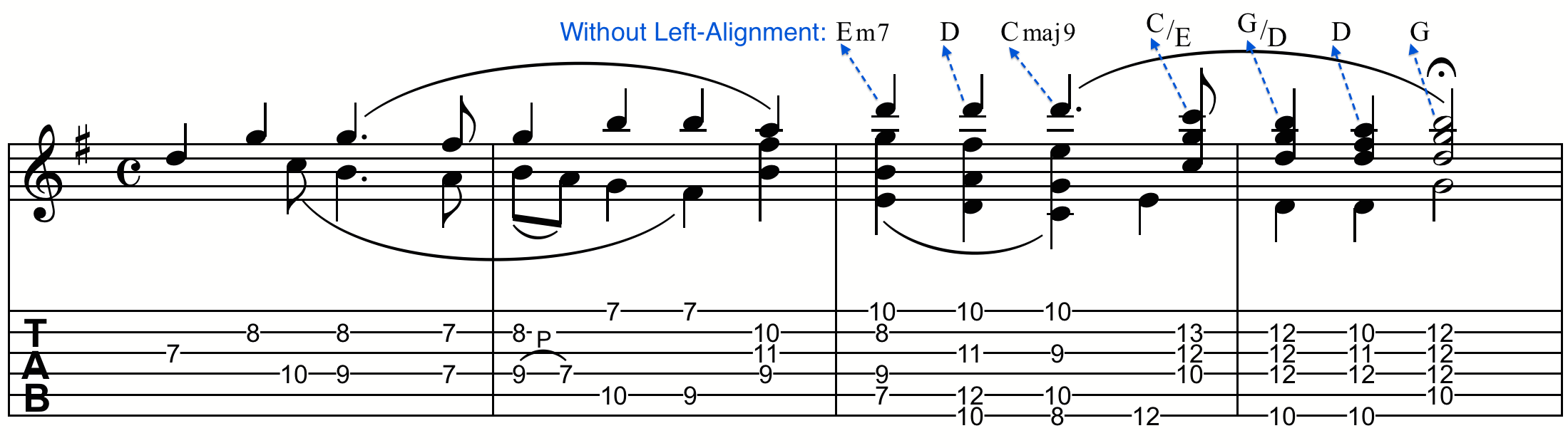 Chord positioning and alignment finale while center alignment can work perfectly with shorter suffixes sometimes you may need to left align chords so they begin exactly over the beat hexwebz Images