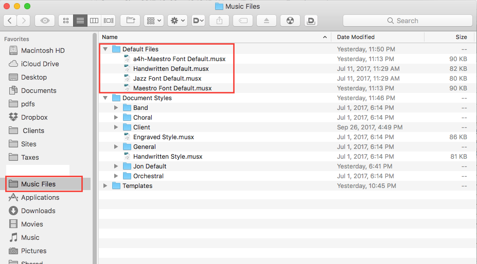 default files document styles and templates making finale work
