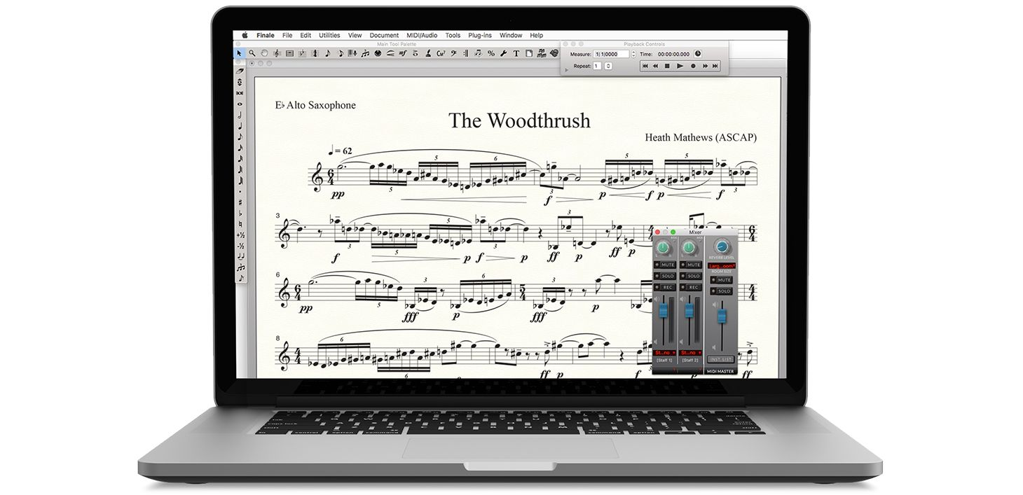 Finale notation software on a Mac