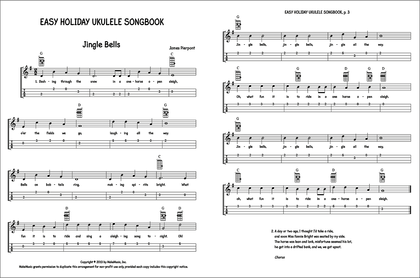 Easy Holiday Ukulele Songbook - Unearthing Hidden Treasure: Finale's Worksheets and Repertoire