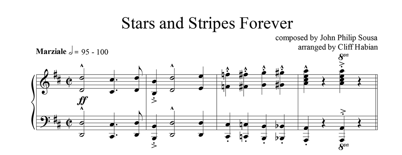 "Pianists! Perform the ""Stars and Stripes Forever"" This Veterans Day"
