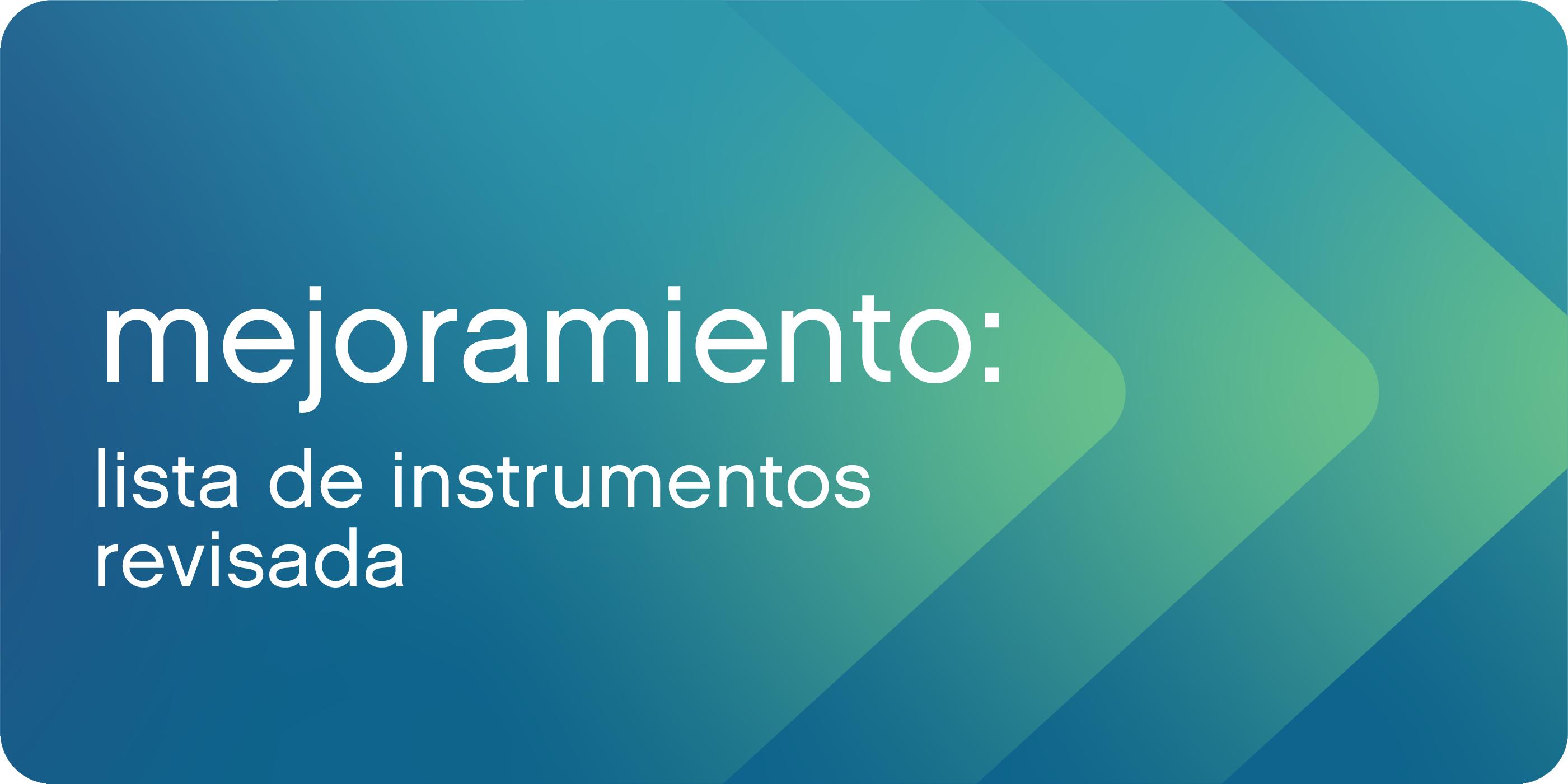 Lista de Instrumentos Revisada