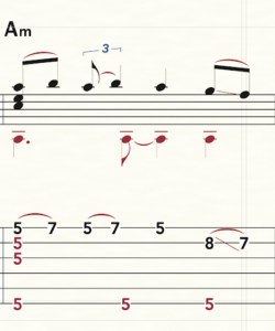 fret numbers 3