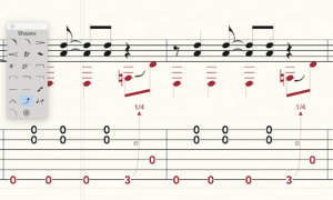 finale for guitarists tabs